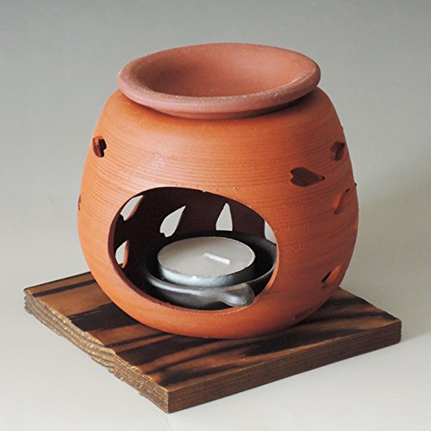 シエスタ詳細な商標茶香炉 常滑焼 石龍作「花びら」川本屋茶舗
