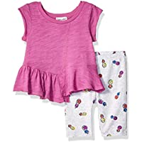Splendid Baby-Girls RGNS830 Pineapple Print Legging Set Short Sleeve T-Shirt Set - Multi