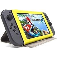 F.G.S Nintendo Switch ケース 任天堂 nintendo switch カバー スタンド ニンテンドー スイッチ スリム カバー ニンテンドー本体保護ケース イエロー 全7色 F.G.S正規代理品