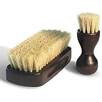 O&G 靴用ブラシ 靴磨きセット 靴磨きブラシ クリーニング/シューケア用品 100%天然 豚毛ブラシ 靴のお手入れに最適 家庭用 (豚毛ブラシ)