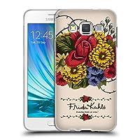 Official Frida Kahlo ヴァイン レッド・フローラル ソフトジェルケース Samsung Galaxy A3