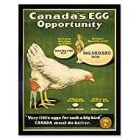 Propaganda Industry Agriculture Egg Chicken Canada War Wwi Art Print Framed Poster Wall Decor 12X16 Inch 宣伝業界カナダ戦争ポスター壁デコ