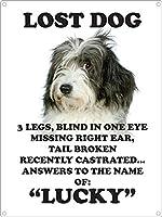Lost Dog 注意看板メタル安全標識壁パネル注意マー表示パネル金属板のブリキ看板情報サイン