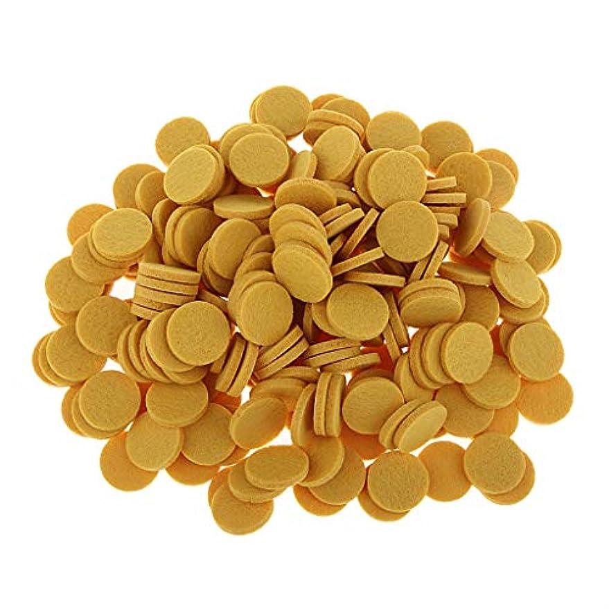 小川伴う実質的ディフューザーパッド アロマパッド パッド 精油 エッセンシャルオイル 香り 約200個入り 全11色 - 黄