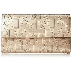 [ピンキーアンドダイアン] 長財布 【ドルチェ】 エナメル ロゴ型押し PDLW7GT1 80 ゴールド
