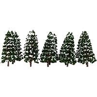 【ノーブランド品】樹木 木 モデルツリー 鉄道模型  風景 1/150  冠雪  積雪 冬の木 公園の風景