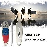 Surf trip サーフボード ロングサーフボード スタンドアップパドルボード ソフトボード SUPボード 空気式 収納バッグ付 セット6点 BT26