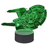 スタートレック エンタープライズ スターシップ NCC-1701 USB 3D アクリル LED イリュージョン ナイトライト 16色変化 リモートコントロール デスクランプ 装飾 ライトルーム デコレーション 子供のおもちゃ クリエイティブギフト