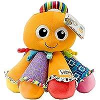 1ピース7.8インチオレンジ色Octotunes Animal Stuffed Plush Toy , Kids Boys Girls SmallサイズCute Cuddly Octopus Toy 8個フロッピー脚再生音楽ソフトおもちゃふわふわHuggableラベンダーネイビーマルチ、ファブリック