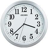 セイコークロック 電波掛時計 コンパクトサイズ プラスチック枠(銀色メタリック塗装) KX379S
