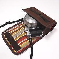suono(スオーノ) Nikon1 J5ケース-標準パワーズームレンズ用(ココア)--ハンドメイド
