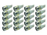 【6連プロジェクターホワイト20個】LED T10 T16 ポジション バックランプ テールランプ ウインカー ルームランプ ナンバー灯