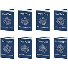 Beistle 54794 passports, Blue/Gold/White
