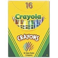 Crayola 520016 Classic色パッククレヨン、Tuckボックス、16色/ボックス