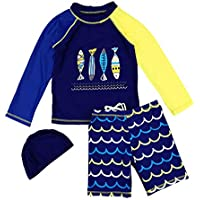 Qiyun Kids Wetsuit,Shorty Boys Girls Swimsuit Children Diving Suit Quick Dry Water Sports Wetsuit