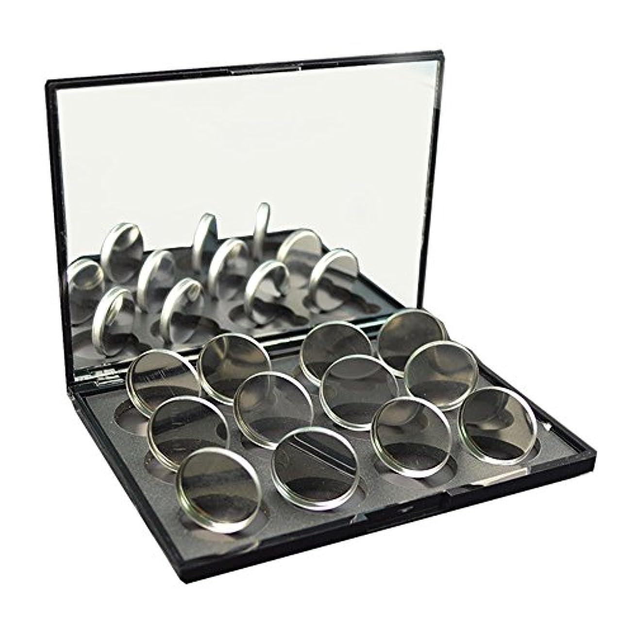 メダルフットボール抽象磁石に敏感な粉のアイシャドウ26mmのための100pcs空の円形の錫鍋