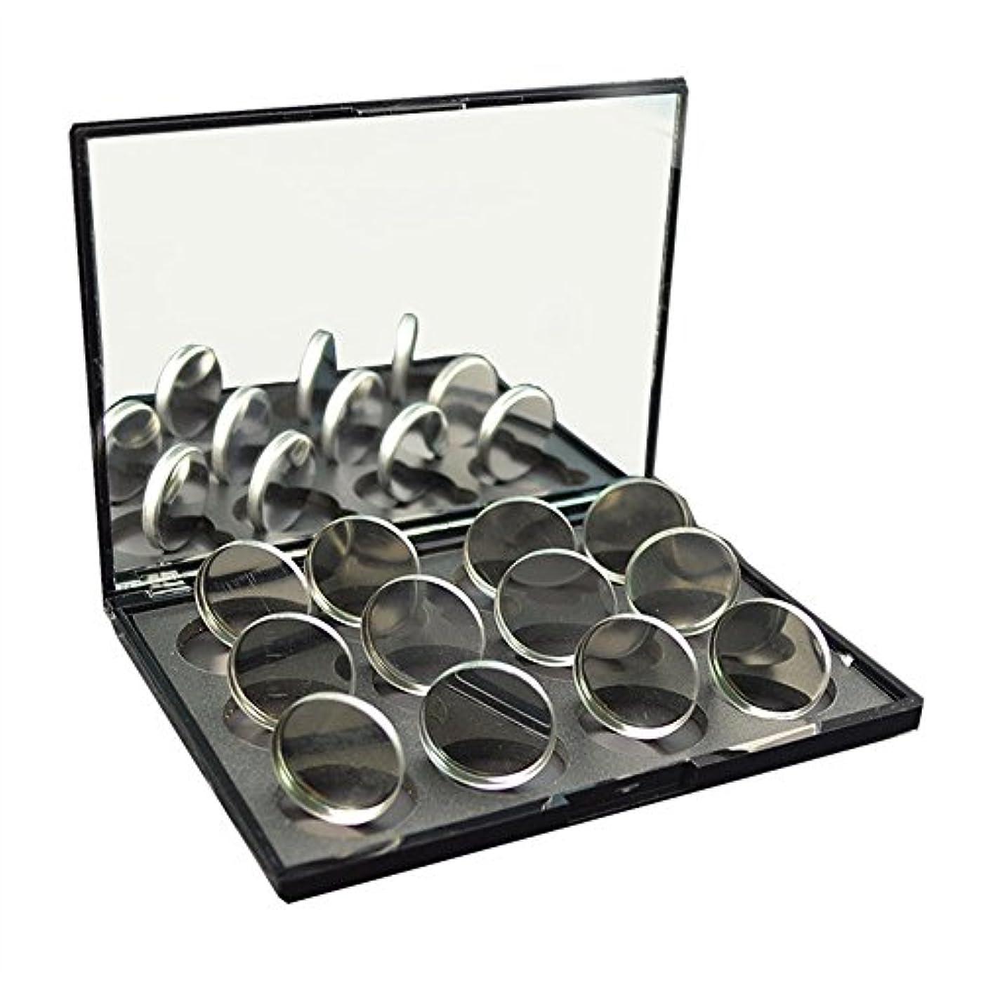 頭蓋骨強打ムスタチオ磁石に敏感な粉のアイシャドウ26mmのための100pcs空の円形の錫鍋
