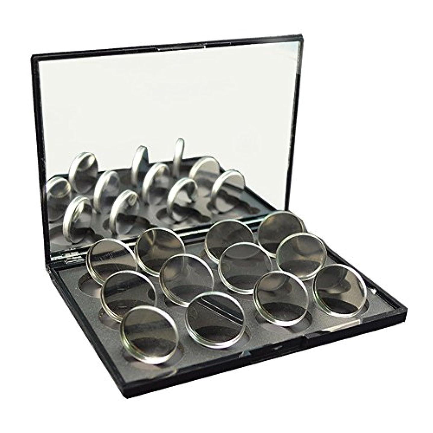 酔って外側駅磁石に敏感な粉のアイシャドウ26mmのための100pcs空の円形の錫鍋