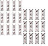 〜陰陽師による作製〜★ 結界シール(1シート・24枚)★悪霊・怨霊・邪気払い・呪詛・呪術☆金縛り☆ポルターガイスト☆体調不良にも★五芒星オリジナル24