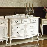 アンティーク調クラシック家具シリーズ チェスト・幅110cm 508631(サイズはありません ア:ホワイト)