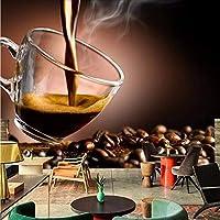Weaeo ビッグカップコーヒーショップのための大きな壁画3D壁写真壁画壁紙3D壁画壁紙3D壁壁画壁紙-280X200Cm