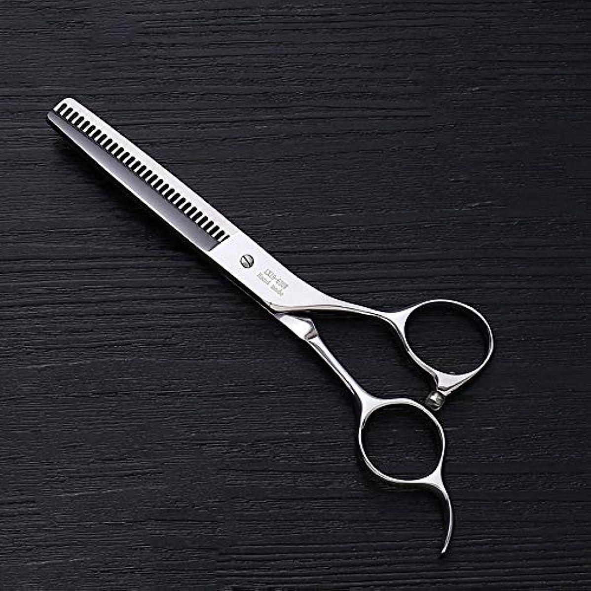 イタリアの十分なやさしく6.0インチプロフェッショナルアントラー歯ステンレス鋼の歯はさみ理髪はさみヘアスタイリスト特別な理髪はさみ ヘアケア (色 : Silver)