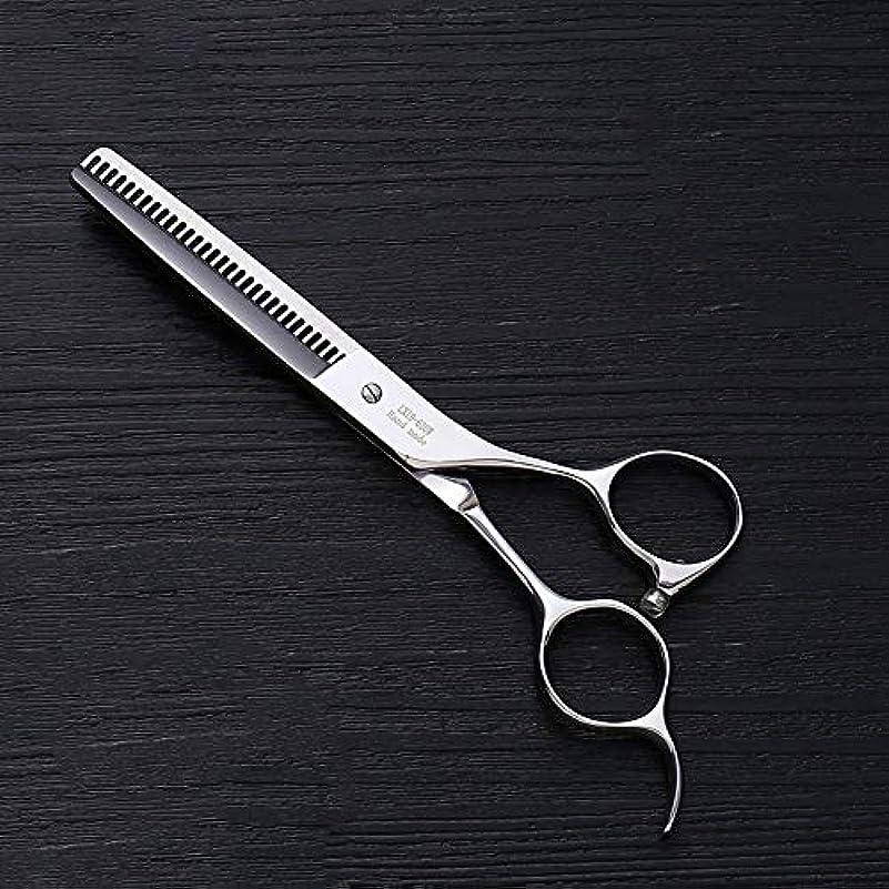 喜んでキャンドルアルファベット6.0インチプロフェッショナルアントラー歯ステンレス鋼の歯はさみ理髪はさみヘアスタイリスト特別な理髪はさみ ヘアケア (色 : Silver)