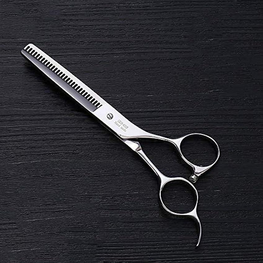 コート護衛科学的6.0インチプロフェッショナルアントラー歯ステンレス鋼の歯はさみ理髪はさみヘアスタイリスト特別な理髪はさみ モデリングツール (色 : Silver)