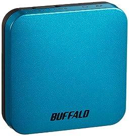 BUFFALO 無線LAN親機 エアステーション 11ac/n/a/g/b 433/150Mbps ターコイズブルー WMR-433W-TB