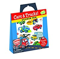 Peaceable Kingdom Sticker Fun! Cars and Trucks Reusable Sticker Tote 【You&Me】 [並行輸入品]