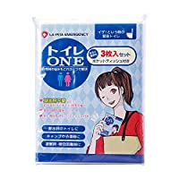 LA・PITA トイレONE 凝固剤不要簡易トイレ (3枚入り)
