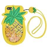 PLATA iPhone7 / iPhone8 ケース シリコン ラバー 星 をとじこめた ラメ 流れる パイン カバー アイフォン 7 8 【 イエロー 黄色 黄 yellow 】 IP7-4103-01