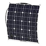 ソーラーパネル 50W ALLPOWERS 18v 12v 単結晶 ソーラーチャージャー 曲げ可能 solar city 太陽光発電 防水 防振 防塵 RV ボート キャビン テント等に対応 ソーラー充電器 AP-SP-007