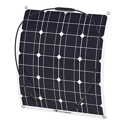 ソーラーパネル 50W ALLPOWERS 18v 12v ...