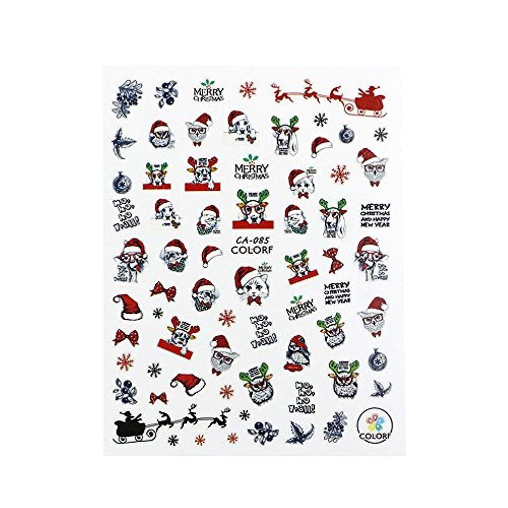 人種感情偶然のTakarafune ネイルシール クリスマス サンタクロース ネイルステッカー ネイルアートネイル用クリスマスデコレーション