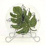 ハワイアン 雑貨/インテリア/ハワイ 雑貨 ハワイアン モンステラ時計 (置き掛け兼用) 【ハワイ】【お土産】