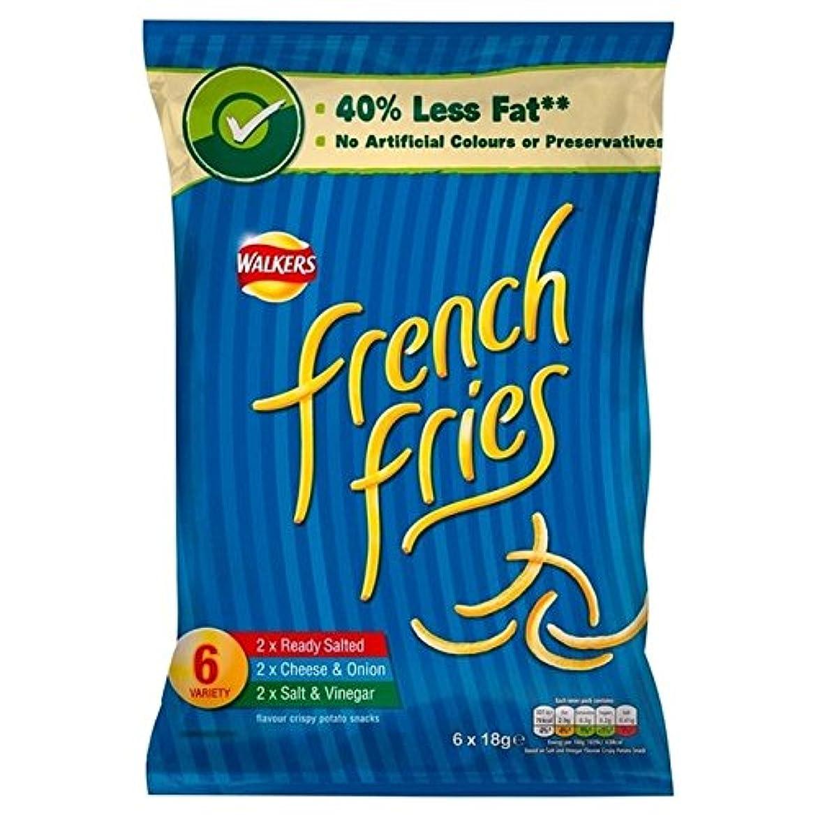 明確に芝生報酬1パック歩行×6フライドポテト品種の19グラムを - Walkers French Fries Variety 19g x 6 per pack [並行輸入品]