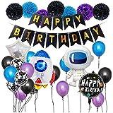 誕生日 飾り 風船 セット HAPPY BIRTHDAY 装飾 バースデーデコレーション アルミ宇宙飛行士バルーン