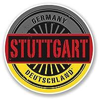 2 x 30cm ドイツ - ノートPCやタブレット用ビニールステッカー #6017