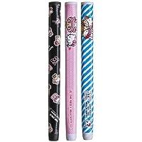 キティ×チョッパー ゴルフグリップ パター用 ビビッド/ドクター&ナース/ピンク&ブラック