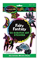 Melissa & Doug's Fairy Fantasy Scratch Art Stickers (3344)