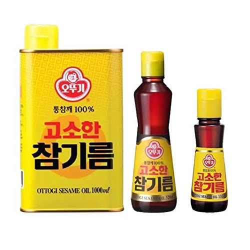 韓国消費者ランキング1位のゴマ油 その一滴がうま味の秘訣 香ばしさがたまらないオットゥギごま油100% 1kg