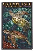 Ocean Isle–Calabash、ノースカロライナ州–Sea Turtle用紙モザイク 10 x 15 Wood Sign LANT-45121-10x15W
