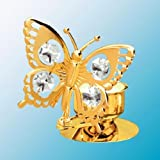 Swallowtail Butterfly Tea-Light..... With Clear Swarovski Austrian Crystal by Crystal Delight by Mascot