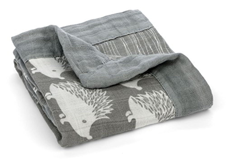 Milkbarn Mini Lovey Baby Blanket - Grey Hedgehog 18 X 18 by MilkBarn