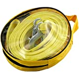 Car Van 4.5M 5 Ton Tow Towing Pull Rope Strap Hooks Heavy Duty Road Recovery AU