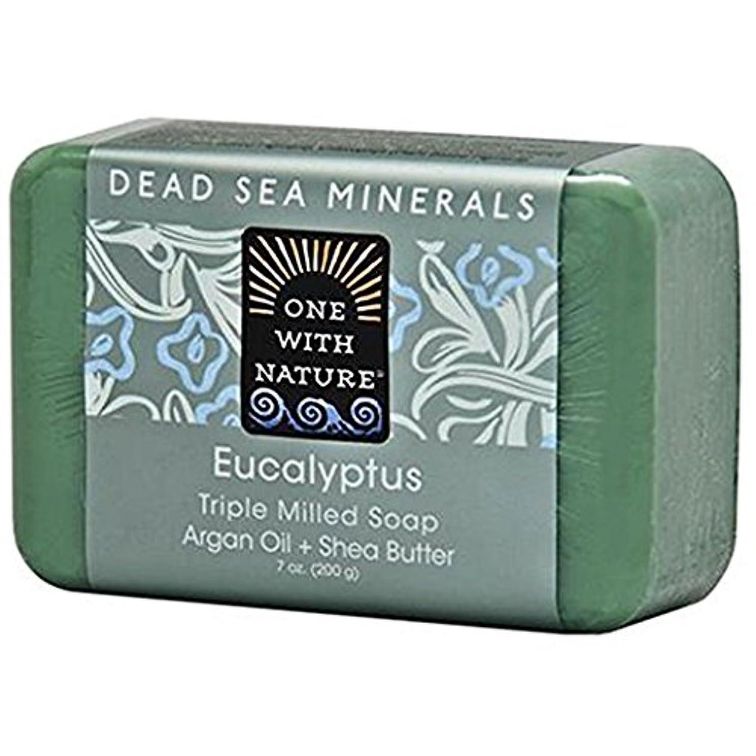 ふける遺産疲れたOne With Nature - 死んだSea Mineralsは製粉された棒石鹸のユーカリを三倍にする - 7ポンド [並行輸入品]