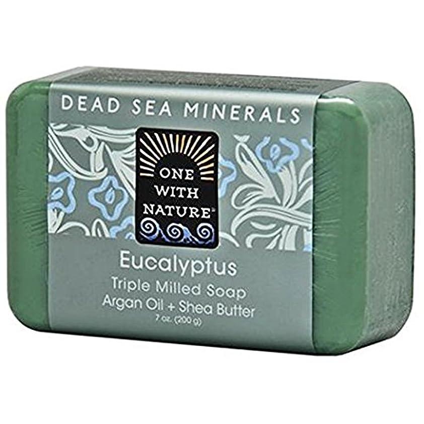 蒸留する路地表示One With Nature - 死んだSea Mineralsは製粉された棒石鹸のユーカリを三倍にする - 7ポンド [並行輸入品]
