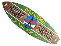 サーフボード ビンテージ サインボード/壁掛けインテリア「SURF SHACK/サーフ シャーク」アロハ・マウイ/インテリア/ハワイ おしゃれ アメリカン雑貨 ハワイアン雑貨 サーフ