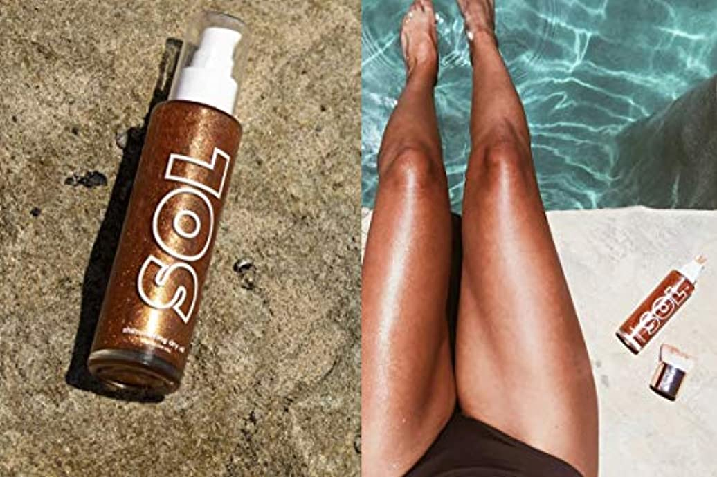 組立群がる放置カラーポップ (ColourPop) SOL BODY sol shimmering dry oil BRONZE ボディオイル